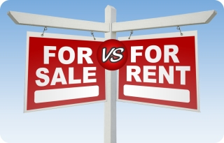 For sale vs for rent