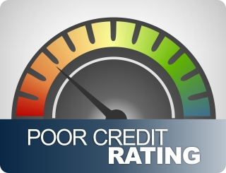 Poor credit rating