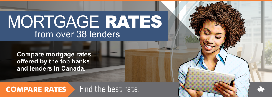 Compare mortgages rates offered by the top lenders in Canada.